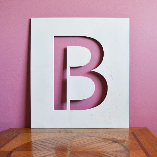 Steel cutout letter B