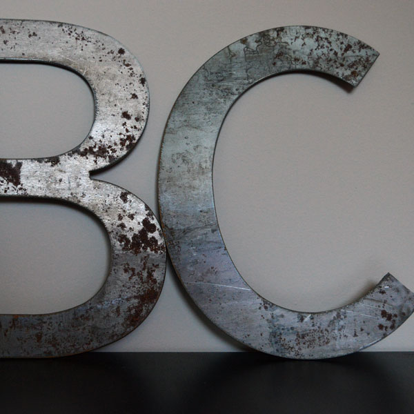 Steel letters B and C