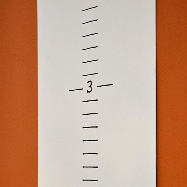 wide steel growth chart closeup