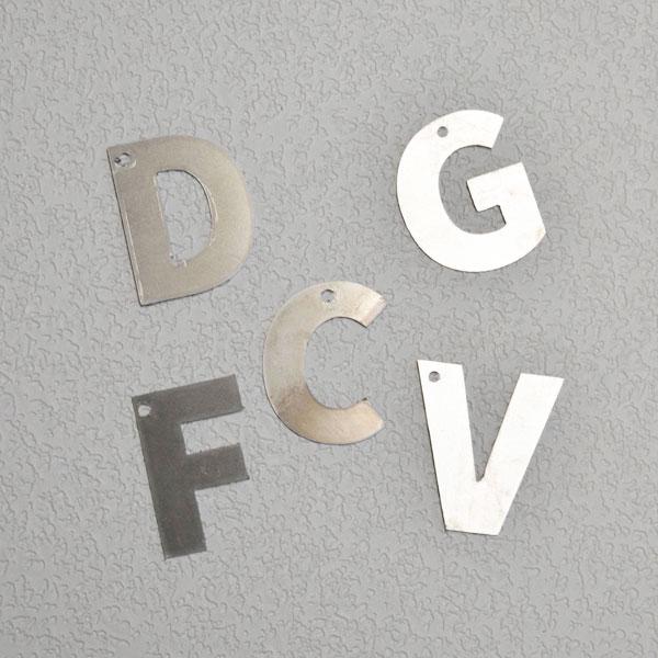 Aluminum alphabet letters ornaments