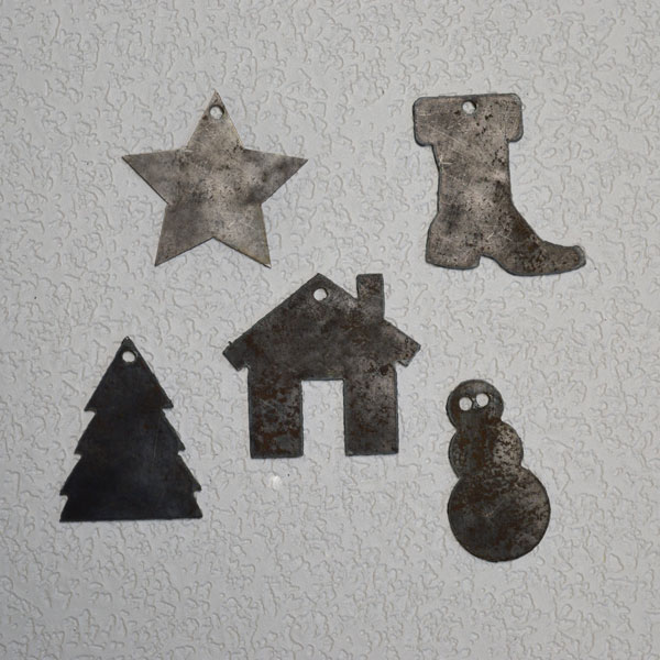 steel christmas ornaments