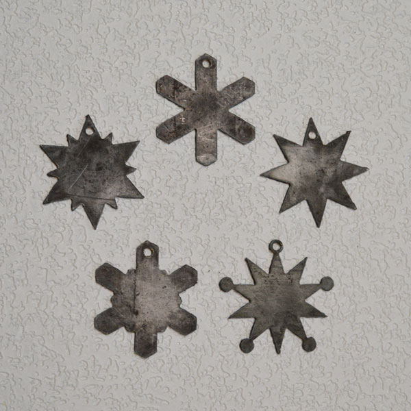 steel snowflake ornaments
