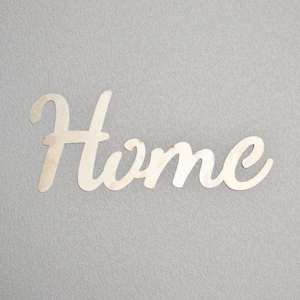 script sign Home aluminum