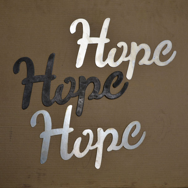 script Hope sign