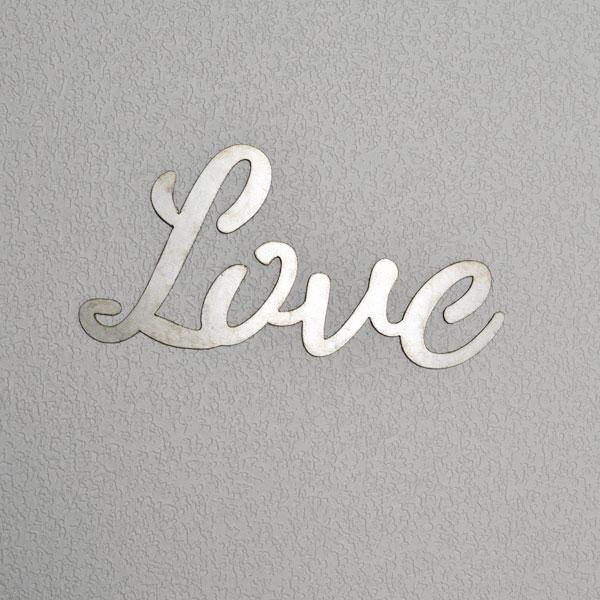 script Love sign galvanized