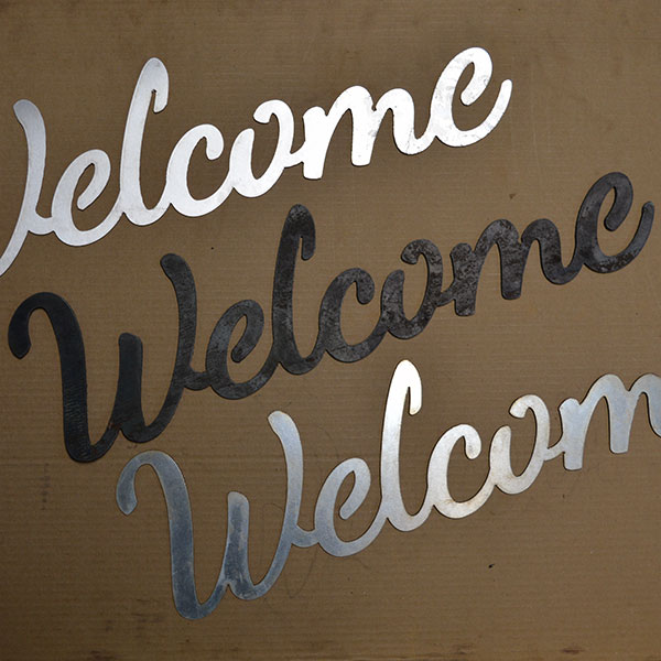 script welcome sign